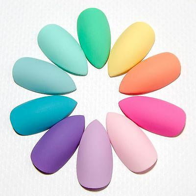 Pastel Matte False Fake Press Glue On Nail Hand Painted Acrylic Artificial Nails