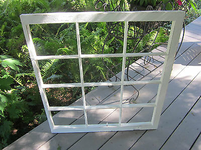 12 pane antique window sash. Freshly painted and primed creamy white. Shabby