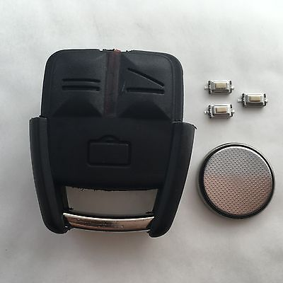 Vauxhall Opel Vectra Astra Omega 3 Button Remote Key Fob Case full repair Kit