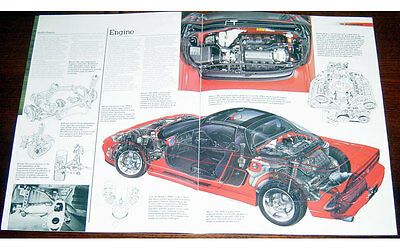 Honda NSX Fold-out Poster + Cutaway drawing