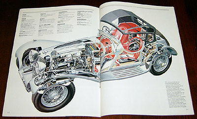 Jaguar SS90/100 - technical cutaway drawing