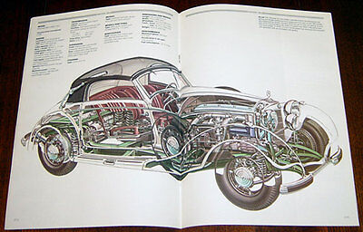 Mercedes 540K - technical cutaway drawing