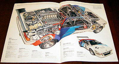 BMW M1 - technical cutaway drawing