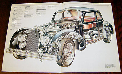 Talbot Lago  - technical cutaway drawing
