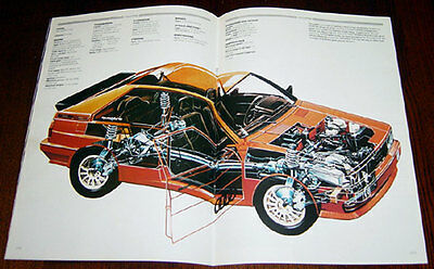 Audi Quattro - technical cutaway drawing