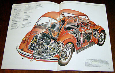 VW Beetle - technical cutaway drawing / Alfa Romeo P2 & P3 - technical cutaway