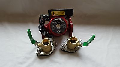 """20 GPM 3 speed Circulating Pump With Cord with (2) 3/4"""" Flanged Ball Valves"""