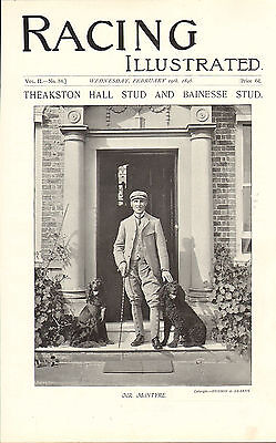 1896 racing illustrated print - theakston hall stud -  mr mcintyre