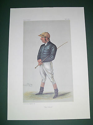 Vanity Fair Print Jockey The Demon George Fordham  Horse Racing