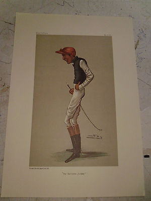Vanity Fair Print Jockey The Favourite Jockey Horse Racing