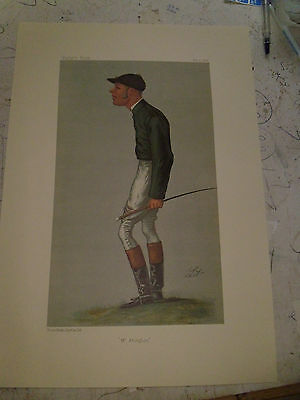Vanity Fair Print Jockey Mr Abington Horse Racing