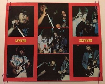 Lynyrd Skynyrd Vintage Poster Pin-up Music Memorabilia Group Shot Collage 1970's
