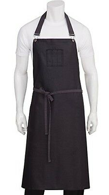 Chef Works ABCWT001-PUB-0 Wet Look Chef's Bib Apron, Purple/Black