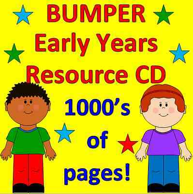 SALE! 1000's of pages of resources on CD Childminder, Pre school, EYFS, PHONICS