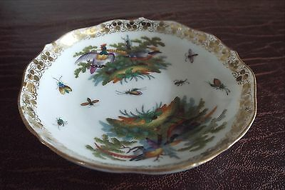 Richard Klemm Dresden Porcelain Bird of Paradise FINGER BOWL Porzellan Teller
