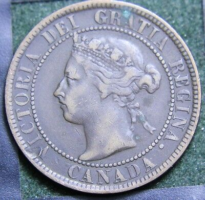 #609# 1893 Canadian Coins Large Cent Queen Victoria