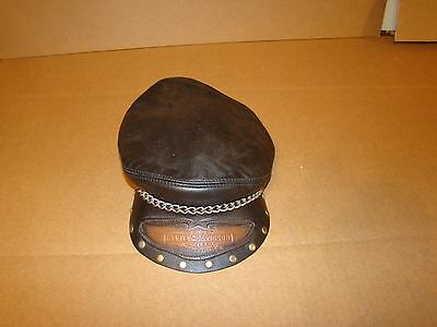 Harley Leather Hat Original OEM Made in USA L/XL