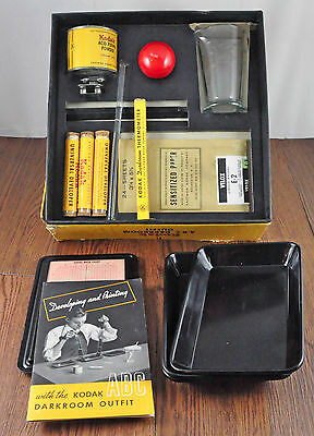 Vintage 1943 NOS Unused Kodak ABC Darkroom Outfit Photo Developing Kit COMPLETE