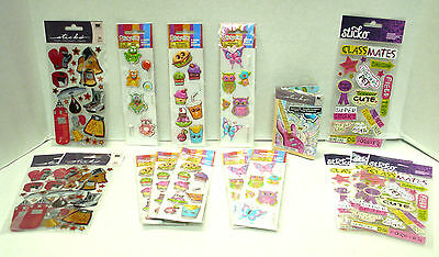 Boxing Gear, Classmates, Stationery Kit, Super Puffy Stickers ~ Lot Of 16