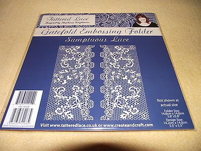 Tattered Lace Gatefold Embossing Folder Sumptuous Lace 143208