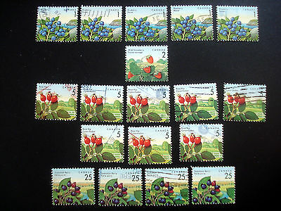 Used Canada OLD stamps Scott  # 1349 (5), # 1350 (1), # 1352 (8), # 1355 (4)