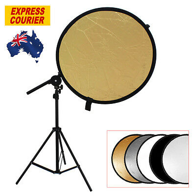 Studio Photo Kit Reflector Bracket Arm + Light Stand + 5in1 110cm Reflector Disc