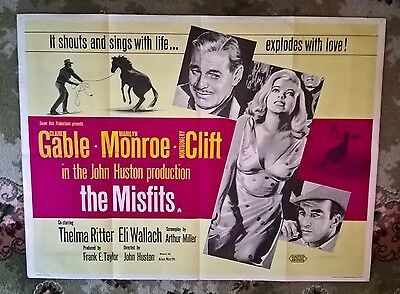 The Misfits - Marily Monroe , 1961 Original Uk Quad Poster 30 X 4O .very Rare