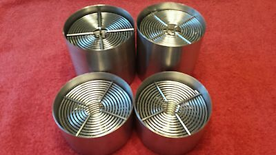 Four Stainless Steel Film Processing Tanks for 35mm and 120 Films
