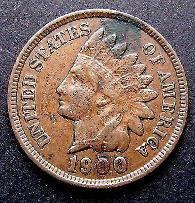 1900 Indian Head Penny in 2 x 2 Holder - High Grade - Top Piece - 193