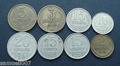 1961-1989 Russia - Kopeks - USSR - CCCP - Mixed Coins 8 in Total - 216