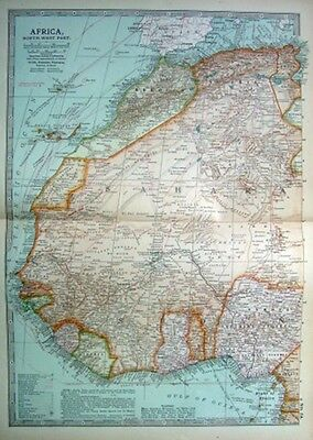 AFRICA NORTH WEST - MOROCCO - SAHARA - GOLD  Original 1903 Antique Edwardian Map