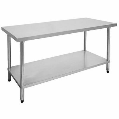 Prep Bench 900x700mm with Gal Undershelf Stainless Steel Top Kitchen Benches