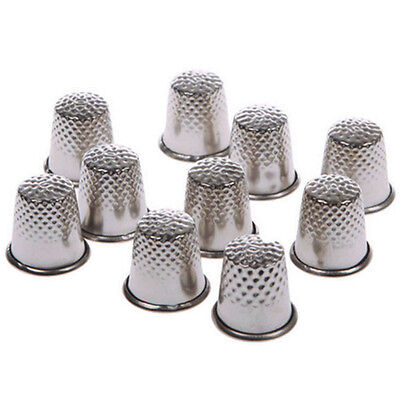 10× Vintage Thimble Sewing Grip Pin Needle Finger Metal Shield Protector Thimble