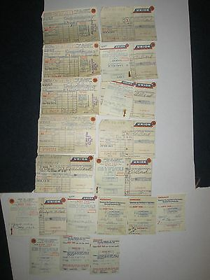 Vintage 1950's/1960's Union 76 Oil 18 Credit Card/Stub Advertising Gas Receipts.