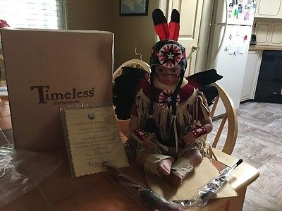 AWESOME Native American Timeless Collection DOLL Maiden Warrior Indian Girl NEW!