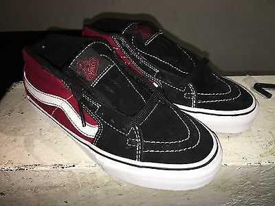 Vans Sk8 Mids Jeff Grosso 3 Vert Pro Suede/Canvas skateboard shoes US Sz 6.5