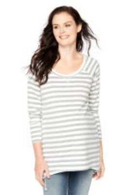 NWT French Terry Top Long Sleeve MOTHERHOOD Maternity ~ Size S