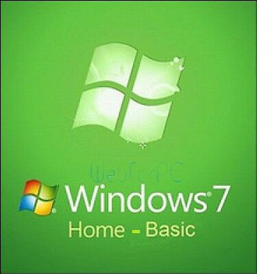 Microsoft Windows 7 Home 32 or 64 Bit With Life Time License Key & DVD