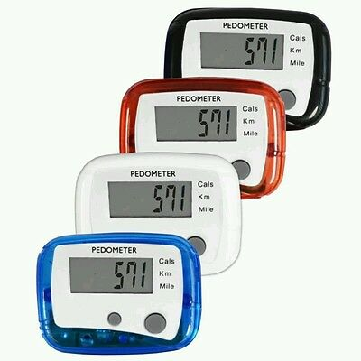 Lcd Pedometer Walking Jogging Calorie Counter Distance Fitness + Belt Clip-Pm2