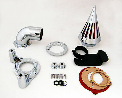 Chrome Spike Air Cleaner Intake Filter For Harley Dyna Touring models 2008-12 AU