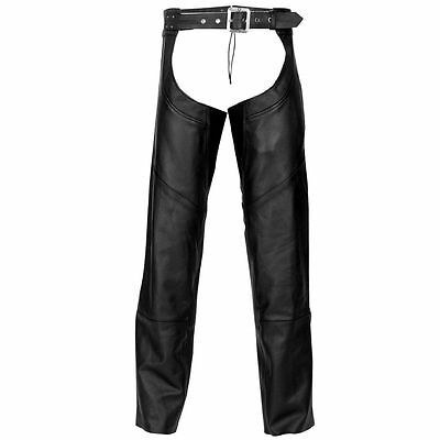 Highway 21 Maverick Leather Mens Motorcycle Street Crusing Touring Chaps