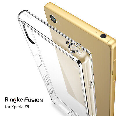 Sony Xperia Z5 Case, Ringke [FUSION] Shockproof Protective Raised Bezels Cover