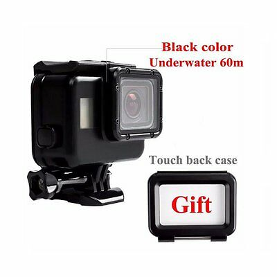Classic Black Underwater 60M Housing Case w/ Touch Screen Back Cover for Gopro 5