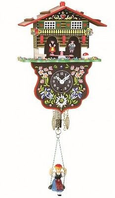 NEW Black Forest Clock Swiss House Weather House TU 808 S
