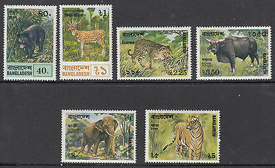 BANGLADESH :1977 Animals set SG 101-6 MNH
