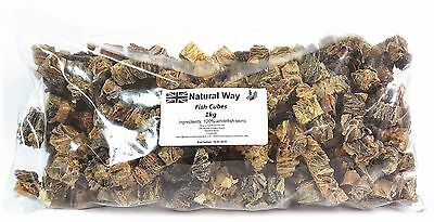 1KG Fish Skin Cubes - Treats for Dogs, Natural UK processed and packed