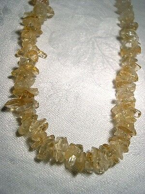 "Citrine Gemstone Beaded 18"" Necklace -  Prosperity Protection 22936"
