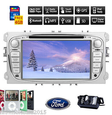 """7"""" Double 2Din Radio In Dash GPS Car Stereo DVD Player For Ford Focus Mondeo+Cam"""