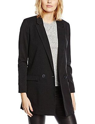 Nero (TG. IT 38 (FR 34)) Vero Moda VMKAY NOAH PRINT  LONG LS BLAZER DNM-Gilet Do