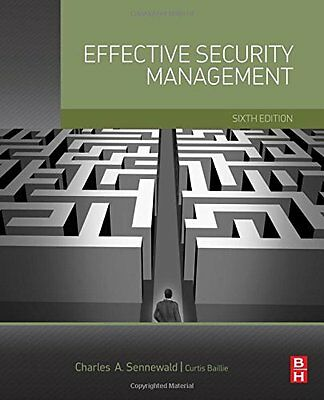 Effective Security Management Copertina rigida